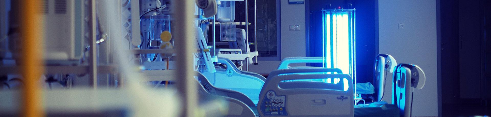 Urządzenia do odkażania w szpitalach - lampy UVC